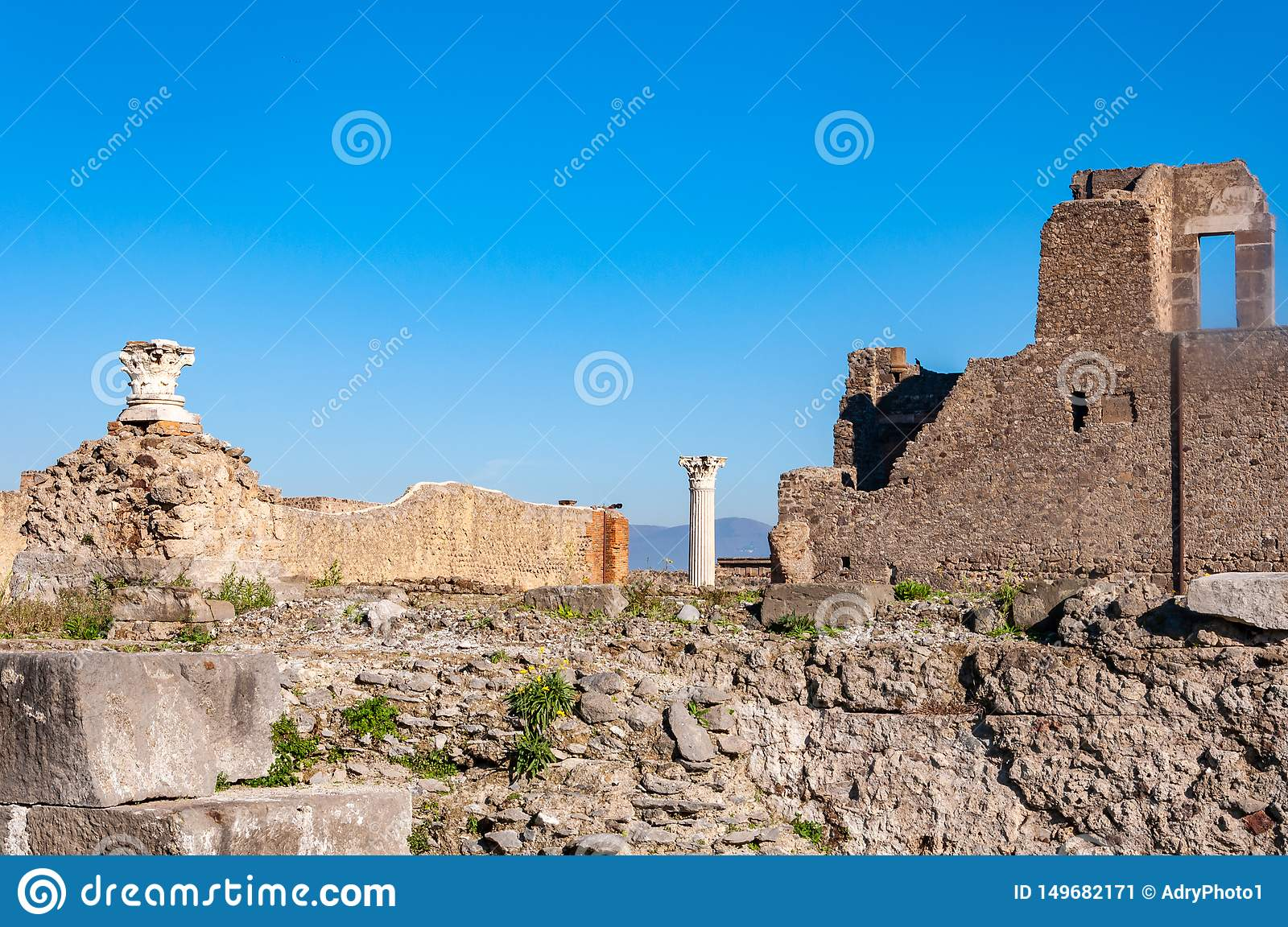 Pompeii, the best preserved archaeological site in the world, Italy