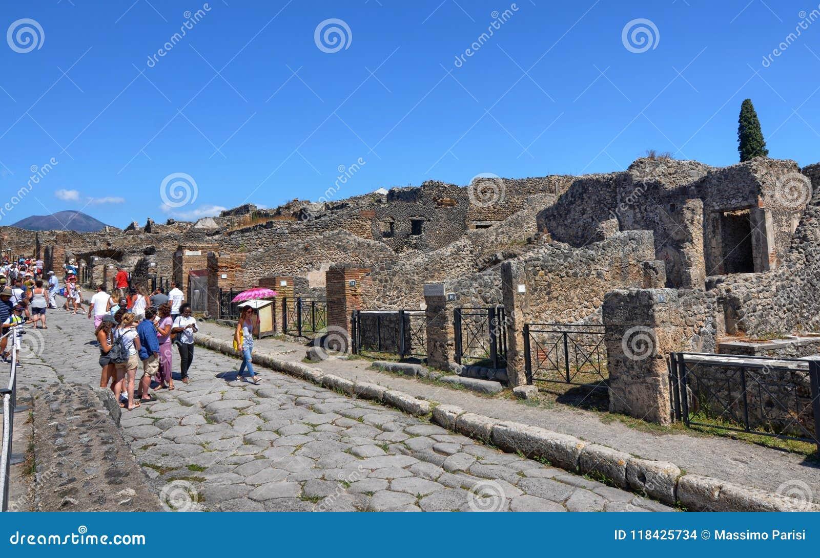 Pompeii, Naples Region Campania August 16 2016. Editorial ...