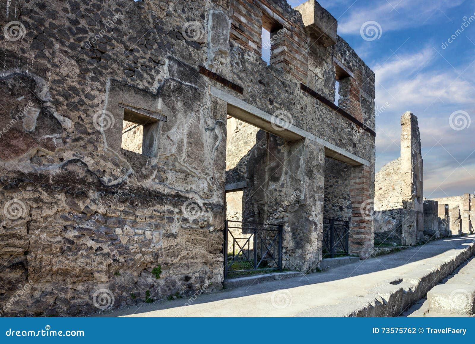 Pompeii, Naples, Włochy Antyczne Romańskie ruiny