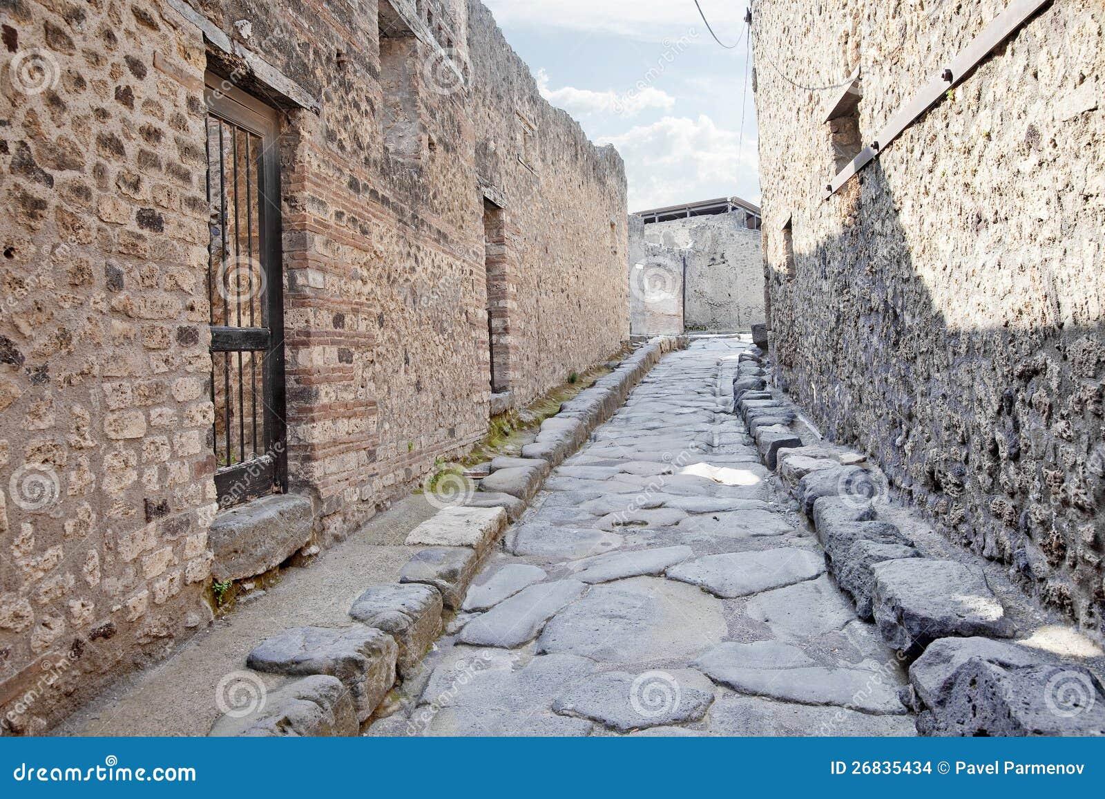 Pompeii. Rua