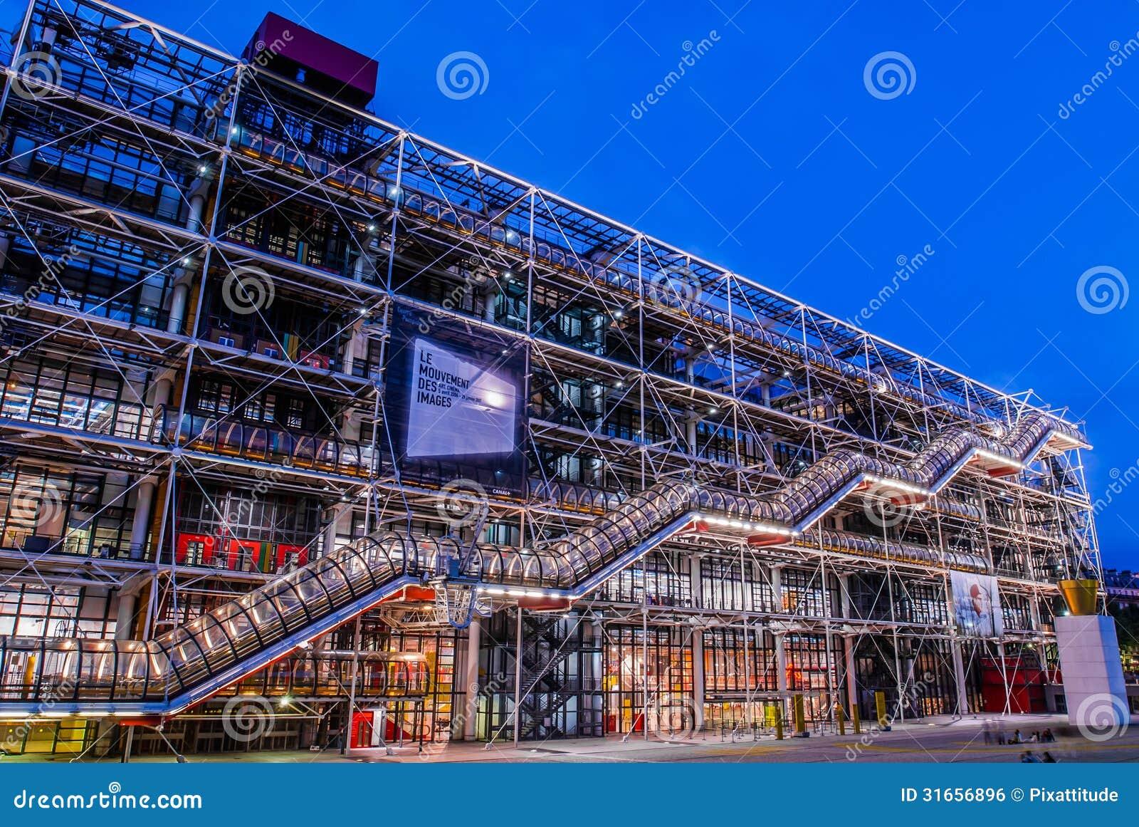 The Pompidou Ce... Vector Free Download Paris