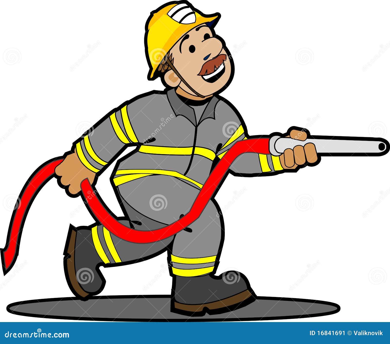 Pompier de dessin anim illustration de vecteur illustration du quipement 16841691 - Dessin anime pompier gratuit ...
