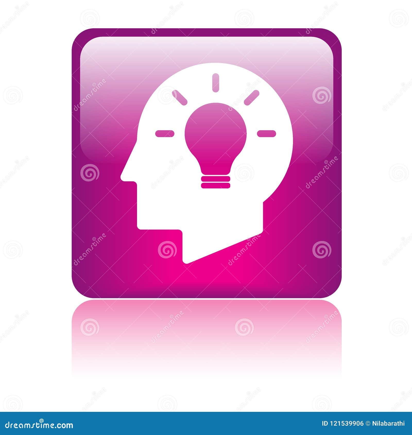 Pomysł żarówki głowy mózg ikona