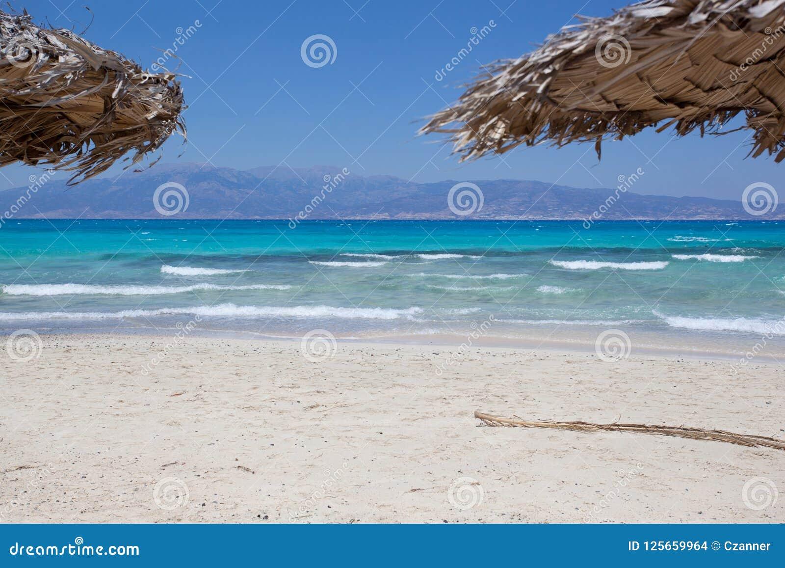 Ile De Chrissi Crete Carte.Poncez La Plage Ile De Chrissi En Crete Grece Photo Stock