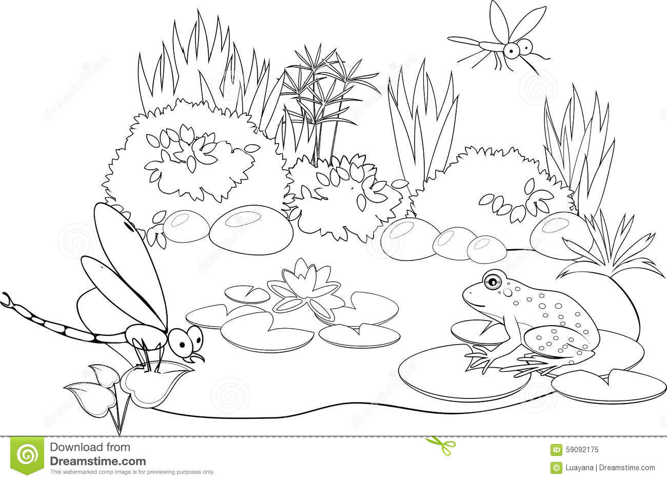 At the pond stock vector. Illustration of entertainment ...