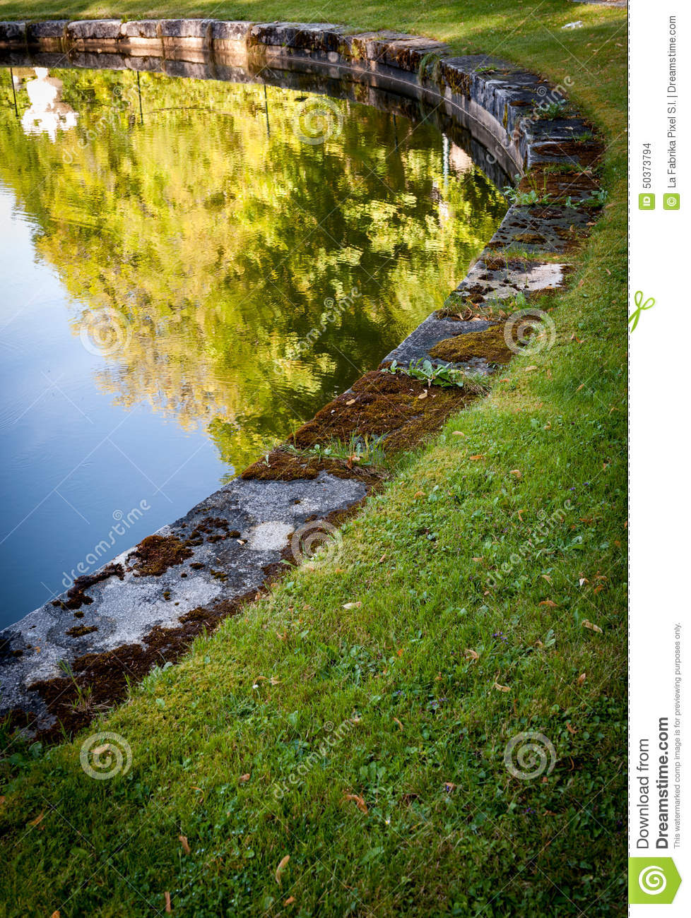 By the pond a stock photo image 50373794 for Ornamental fish garden ponds