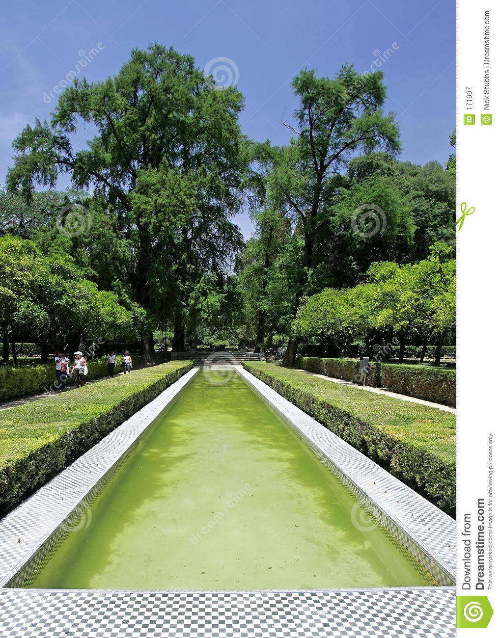 Pond and Fountain in Seville Garden