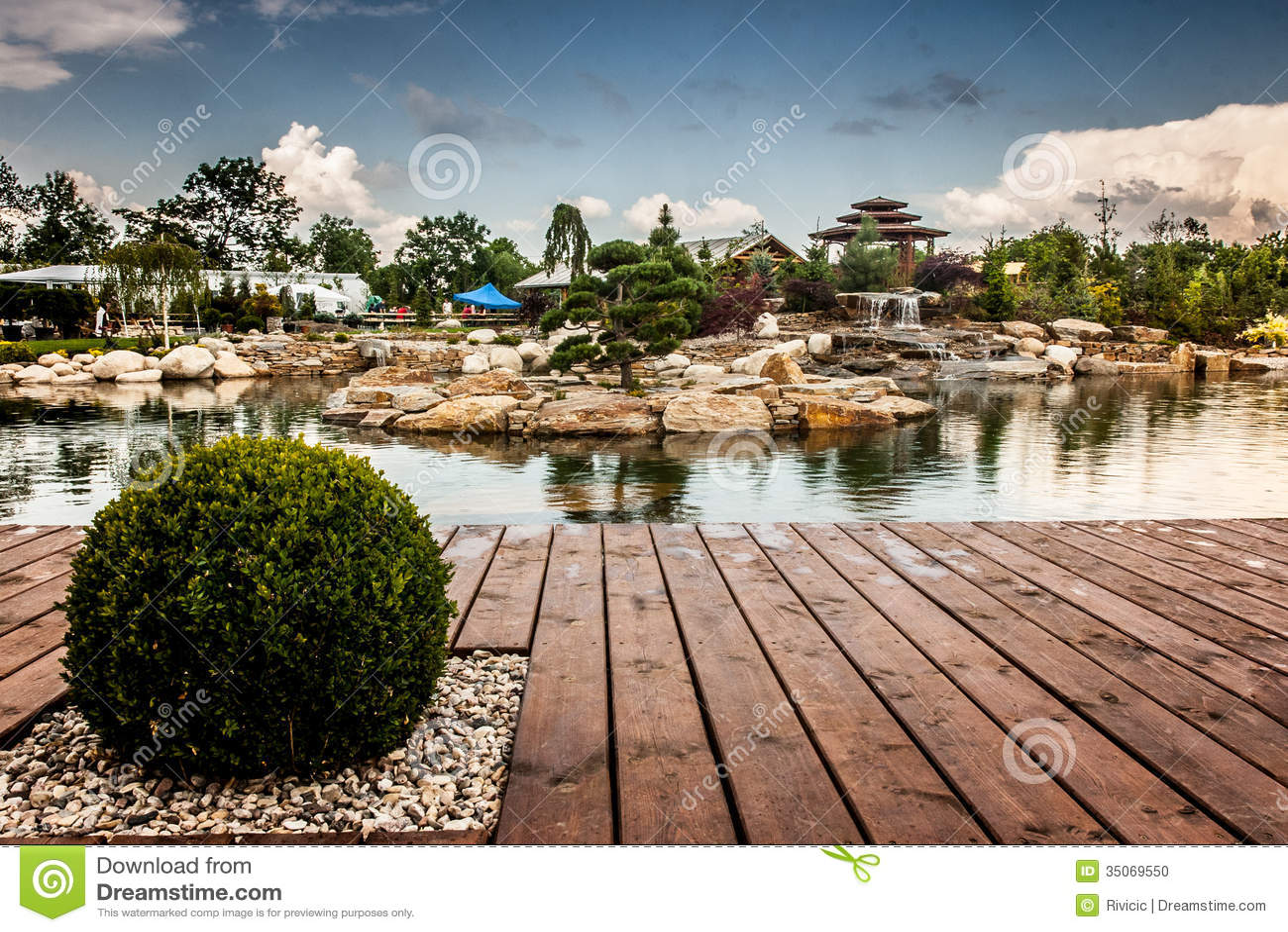 Pond In Garden Center Stock Photo Image 35069550