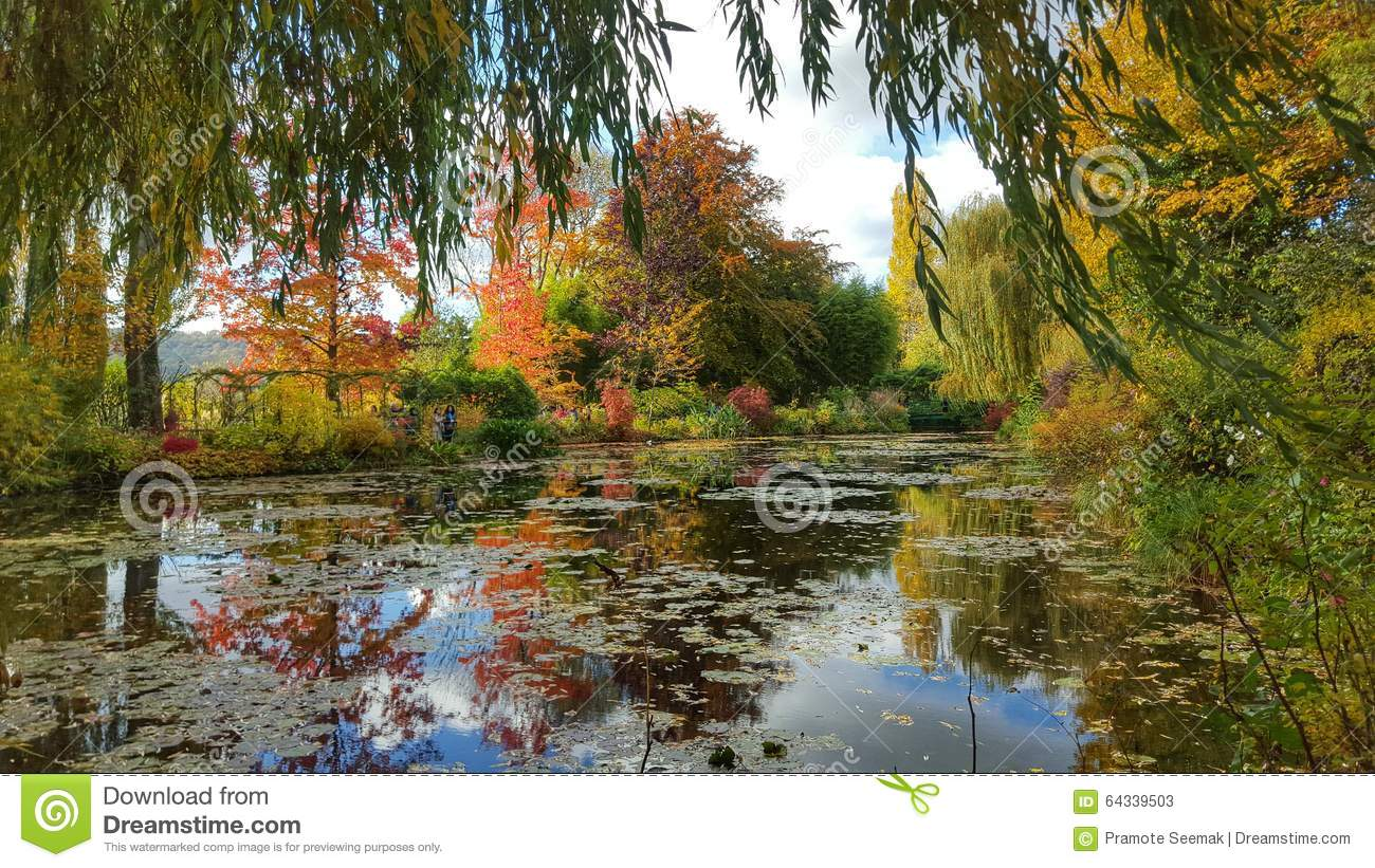 The Pond Garden Of Monet, Giverny, France Stock Image - Image of ...