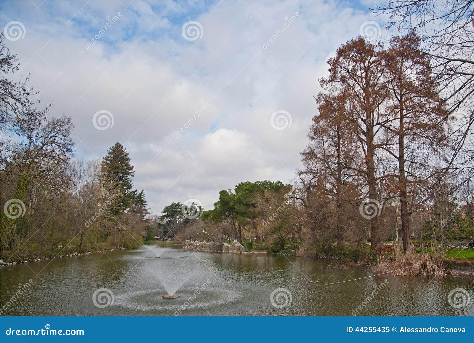 Pond at giardini margherita bologna stock image image of garden