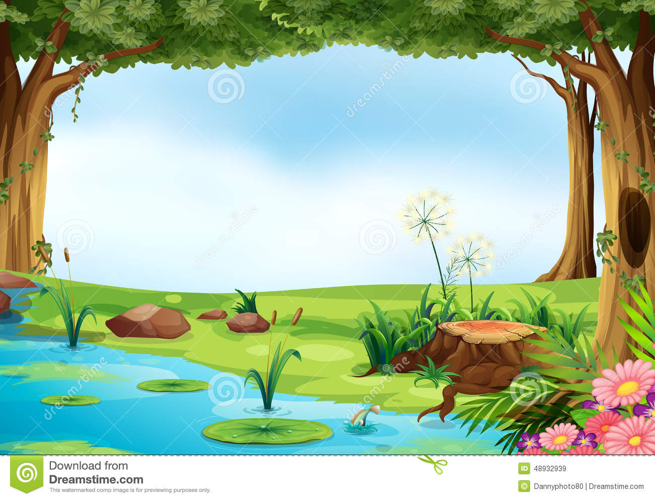Free coloring pages ugly duckling - Pond Illustration Outdoor Scene 48932939 Jpg 1300 991 Printables Cut Outs Coloring Pages Playmats Pinterest Scene Search And Ponds