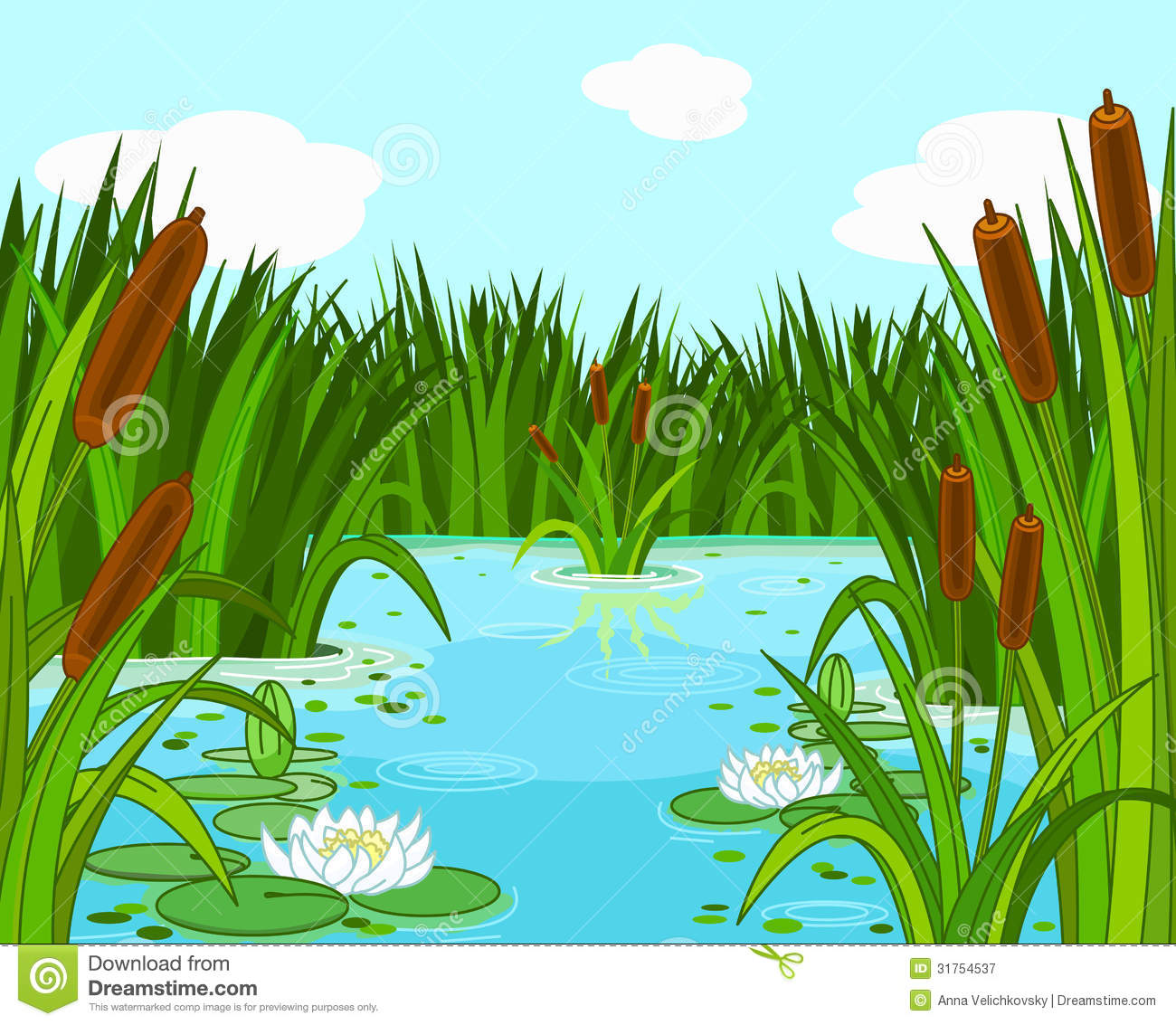 Pond Scene Royalty Free Stock Photography - Image: 31754537