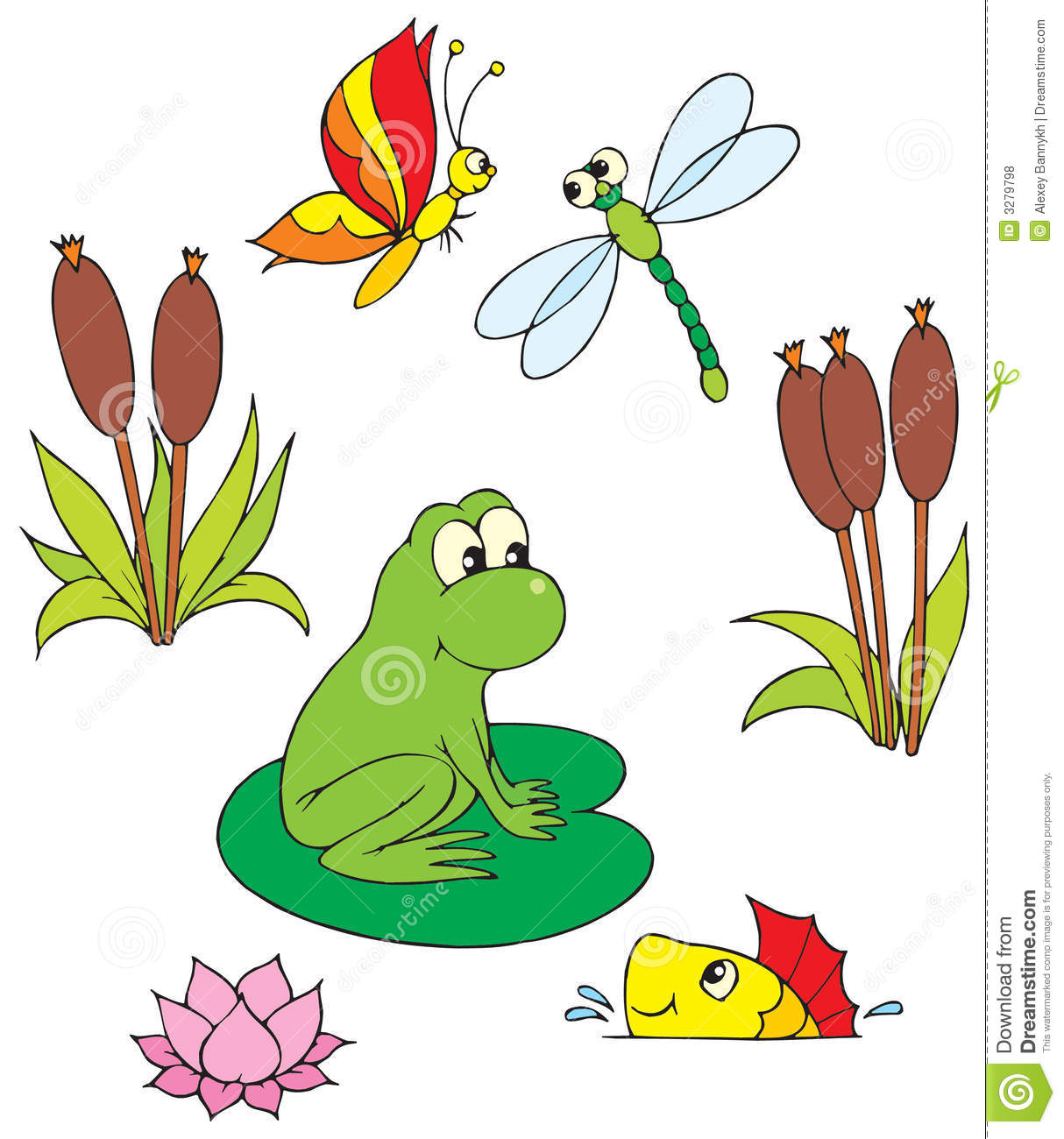 free clipart fish pond - photo #14