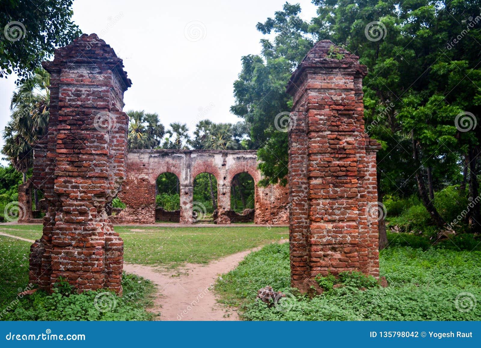 Pondicherry, Inde - 30 septembre 2017 : Village d Arikamedu dans Pondicherry, Inde