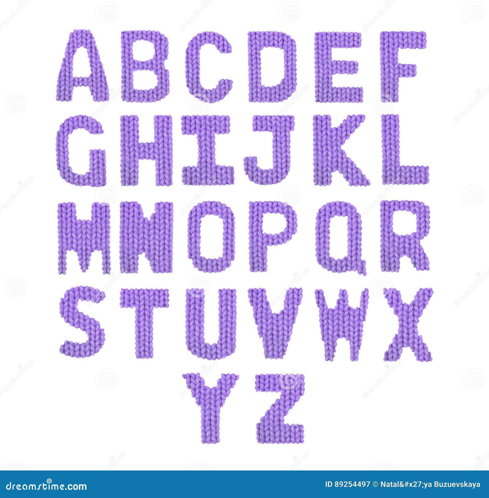 Pone Letras A Alfabeto Inglés Púrpura Del Color Imagen de archivo ...