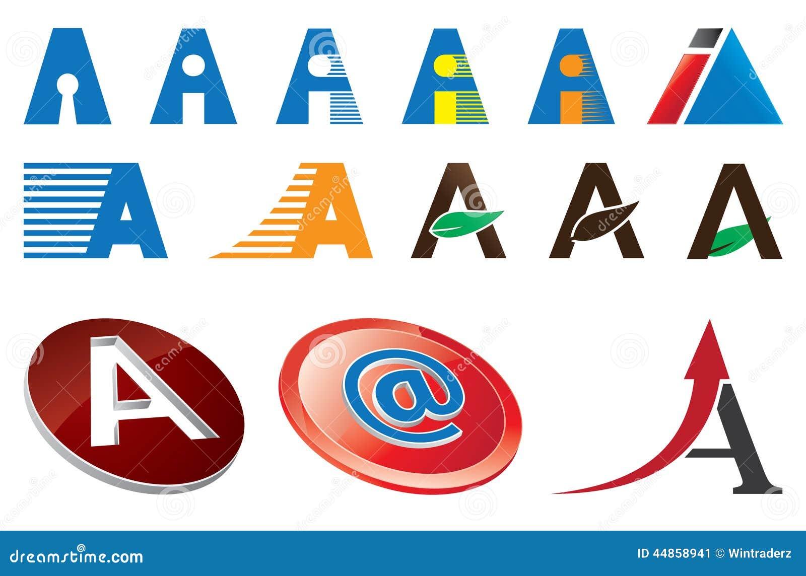Ponga letras a logo template ilustraci n del vector for Logos con letras