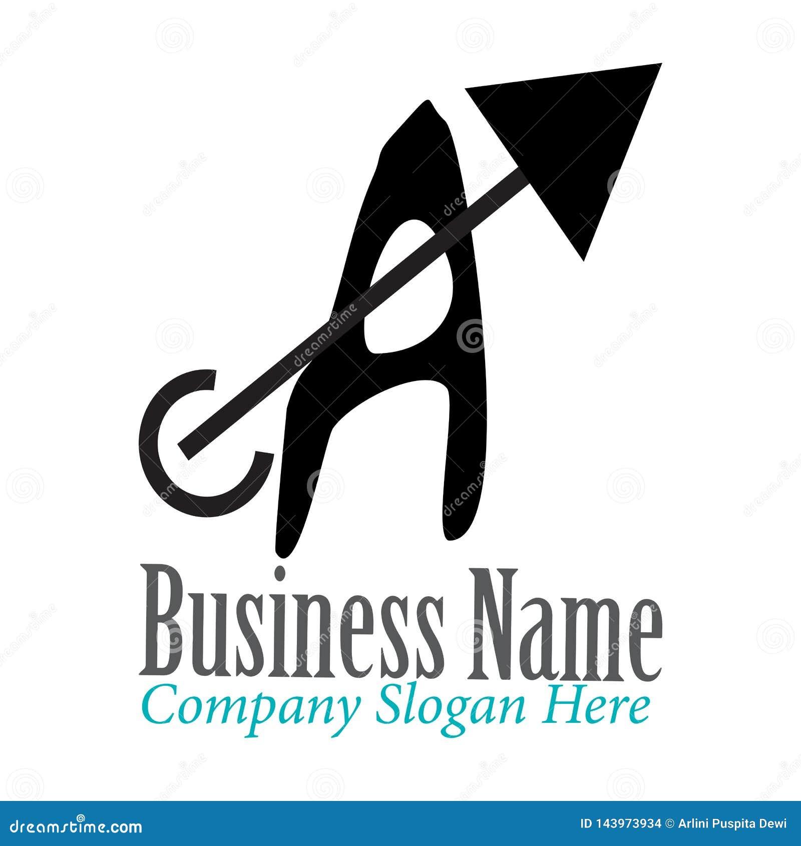 Ponga letras a Logo Template