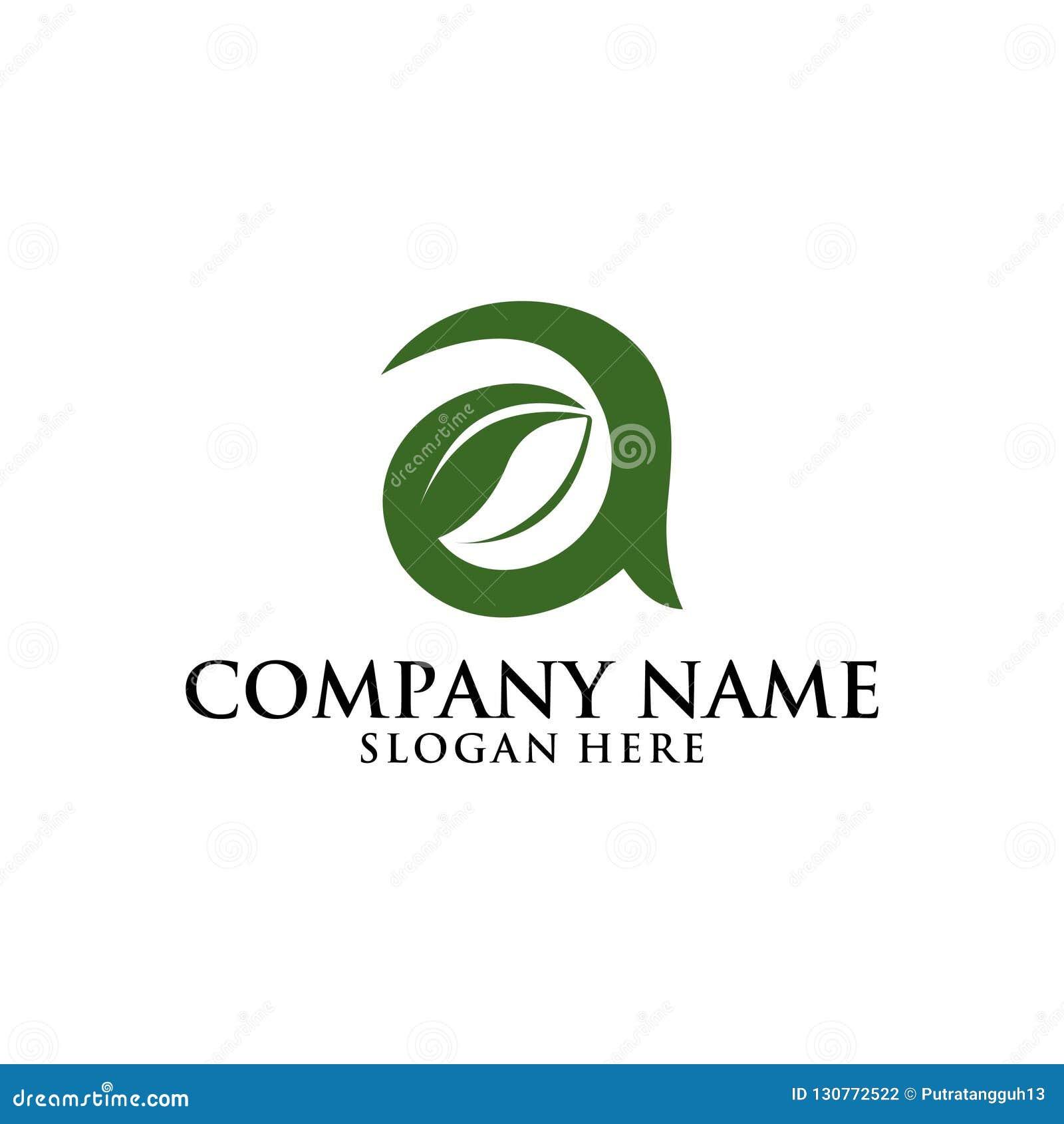 Ponga letras a un diseño del logotipo de la naturaleza