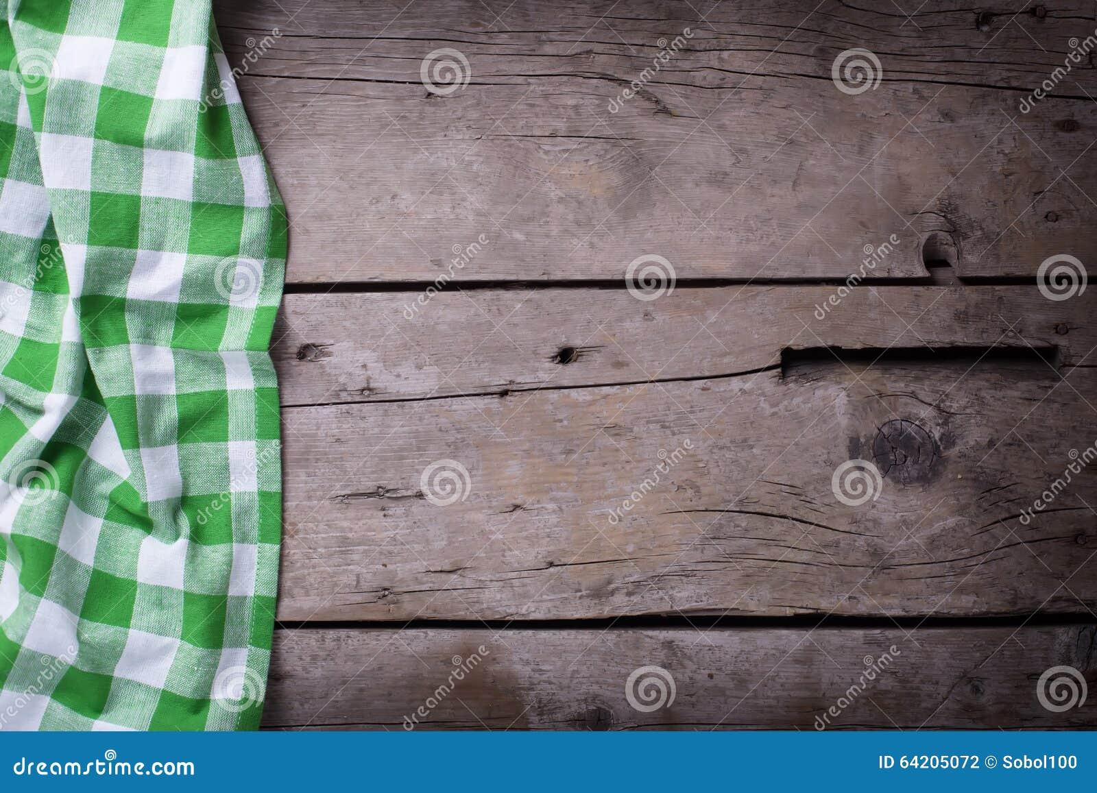 Ponga verde la toalla de cocina checkered