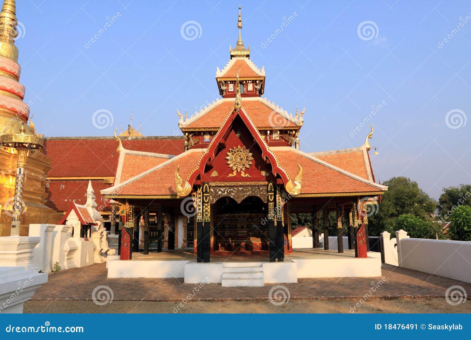 Pongsanuk temple,Lampang, Thailand.