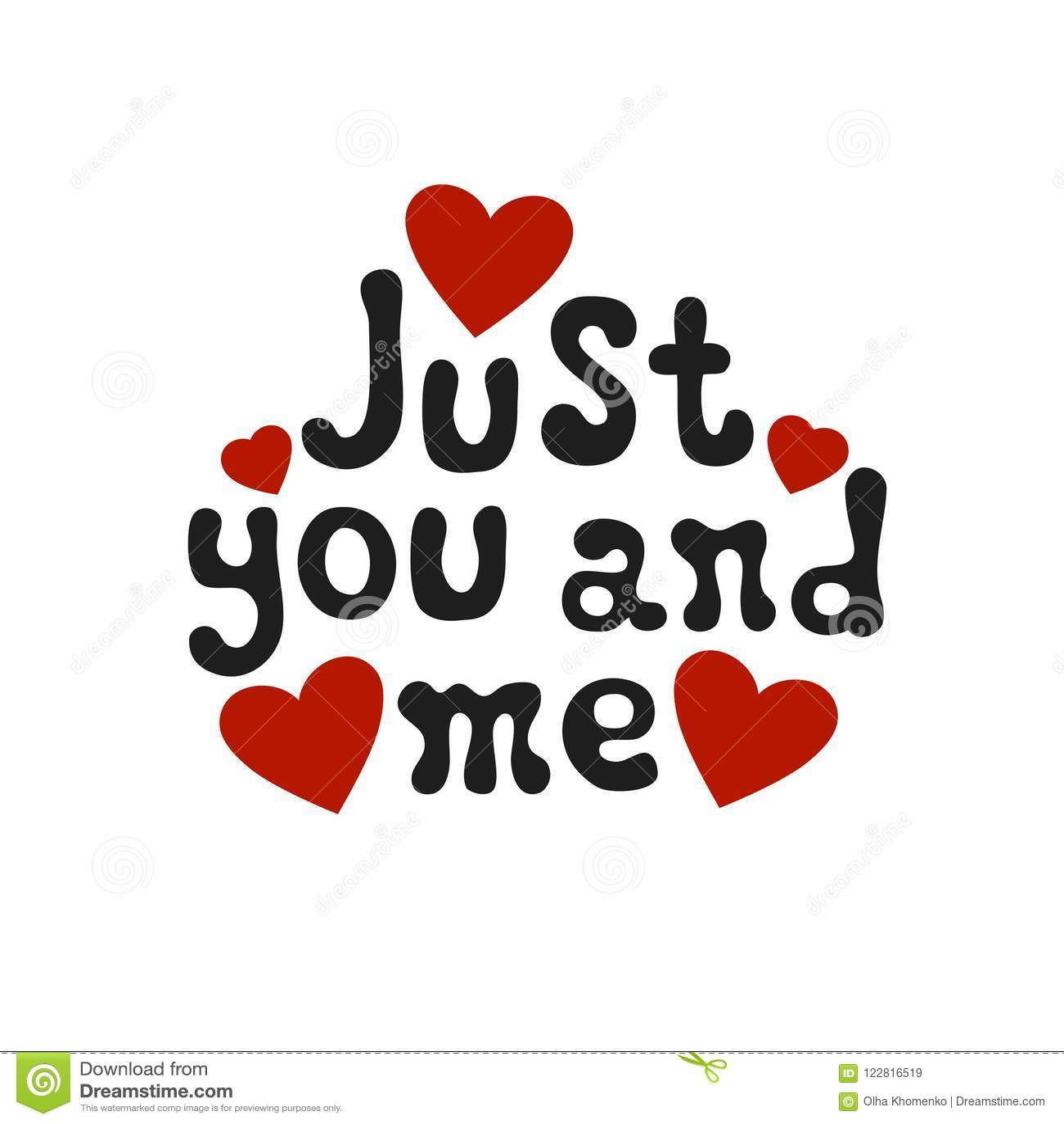Poniendo Letras A Frase Romantica Apenas Usted Y Yo Elemento