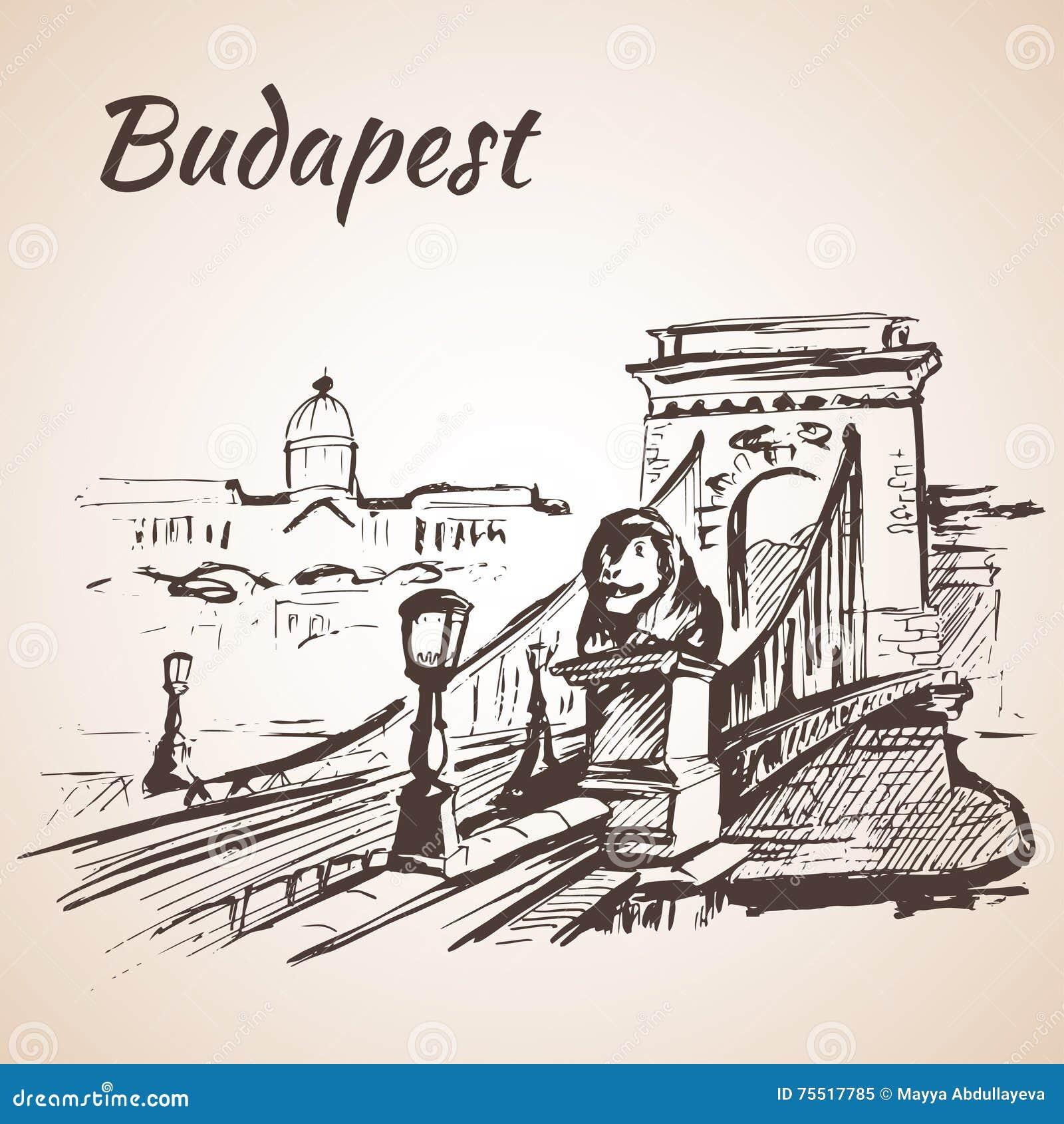 Pont à chaînes - Budapest, Hongrie