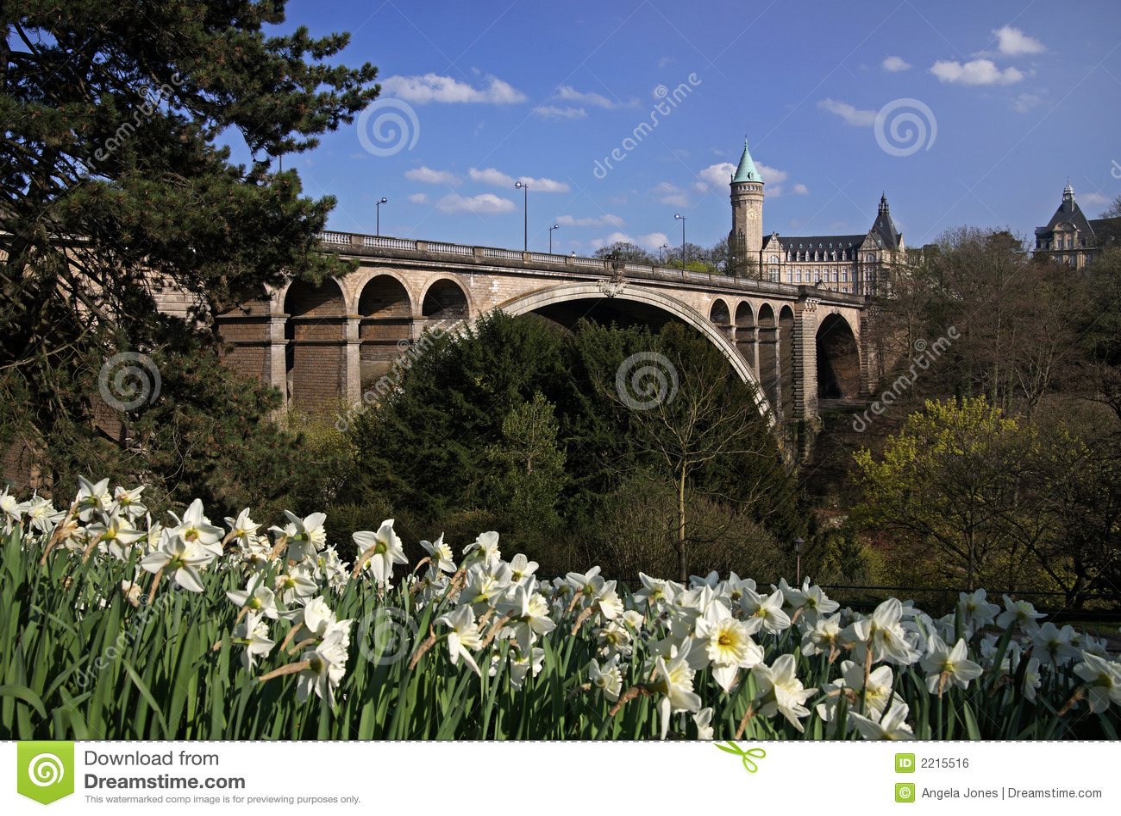 pont adolphe bridge luxembourg royalty free stock image image 2215516. Black Bedroom Furniture Sets. Home Design Ideas