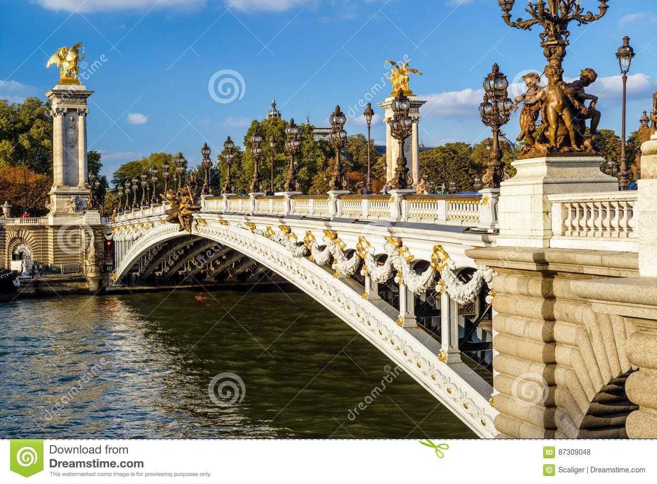 Historical Stock Prices >> Pont Alexandre III In Paris Stock Photo - Image: 87309048