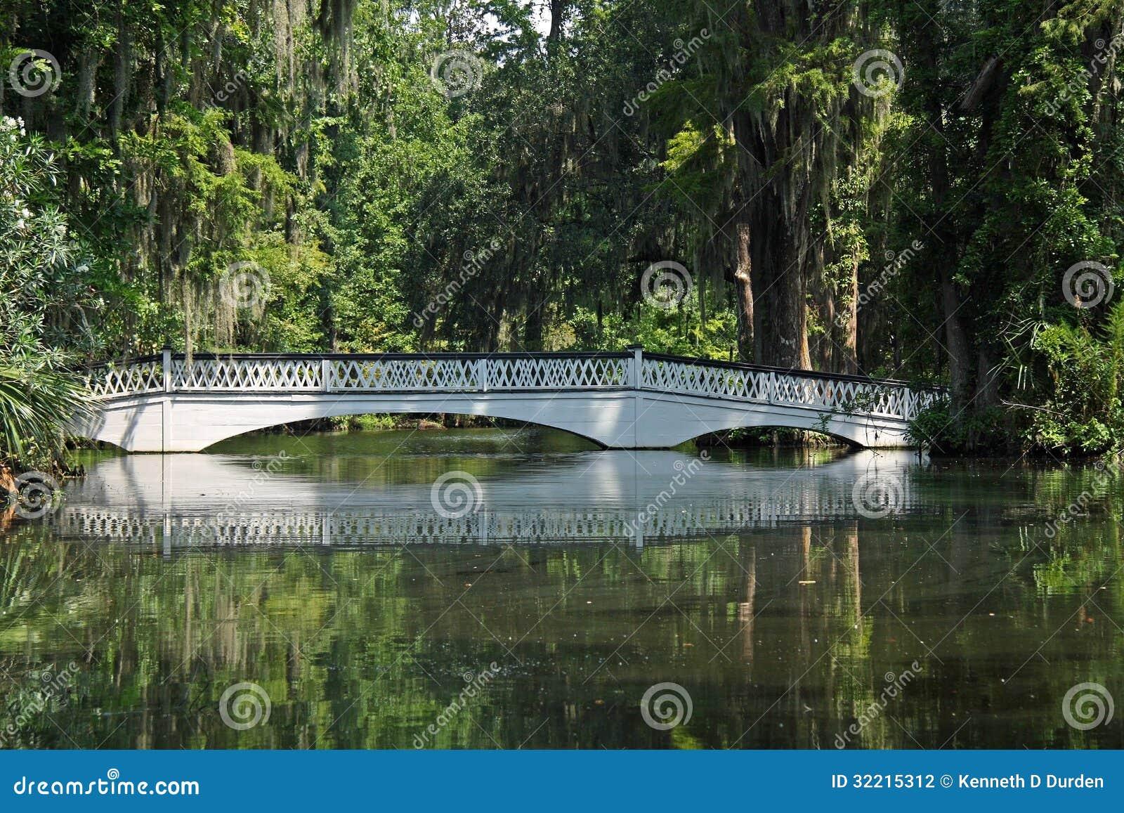 Pont au-dessus d étang