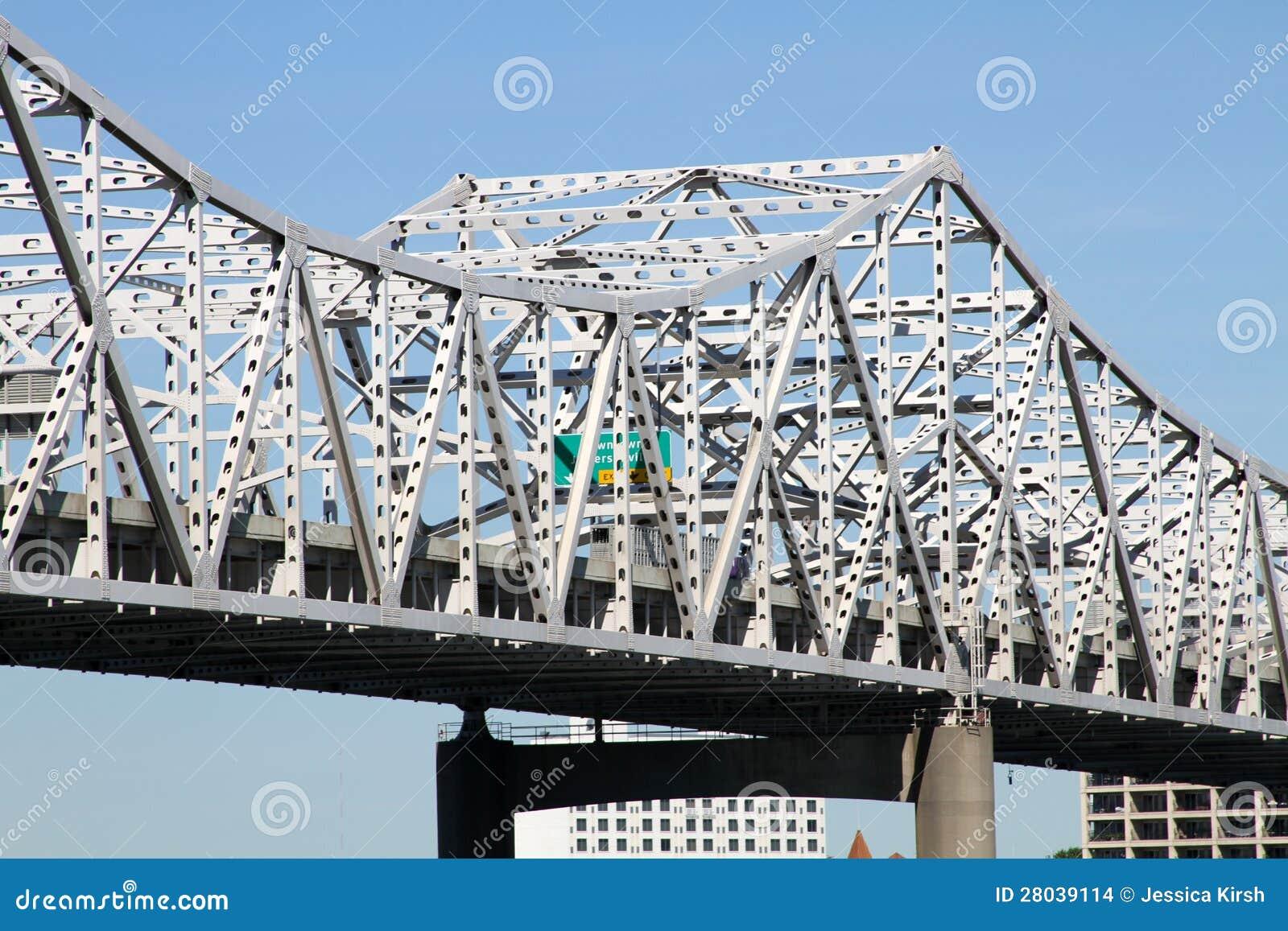 Pont blanc de rivière de chaussée