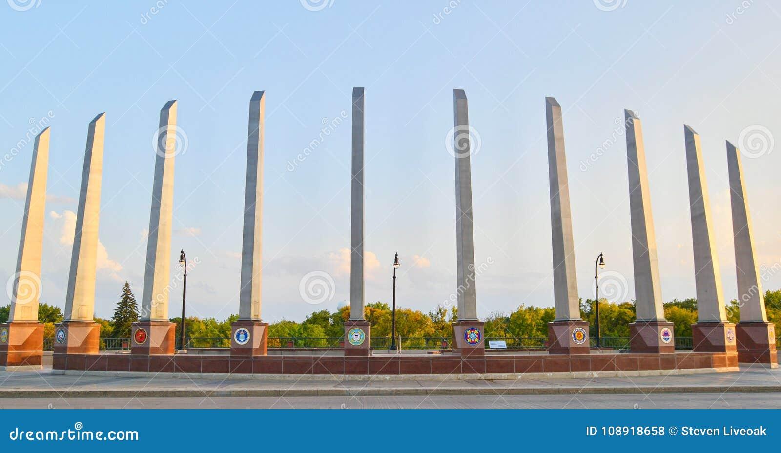 Pont commémoratif de vétéran dans Fargo, ND