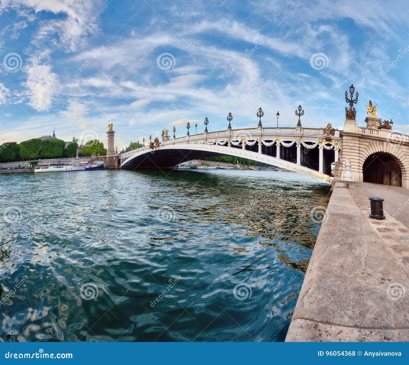 Pont d Alexandre III à Paris, image panoramique