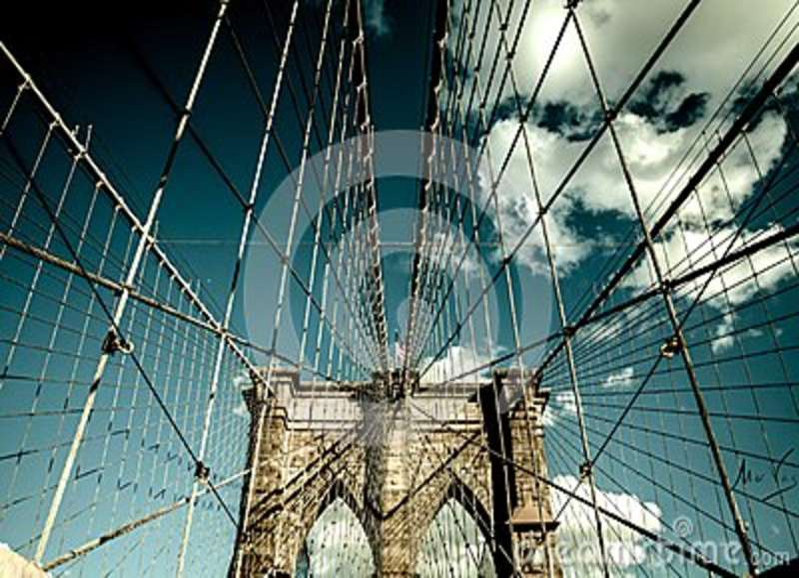 Pont de Brooklyn, Manhattan New York Concept vivant urbain