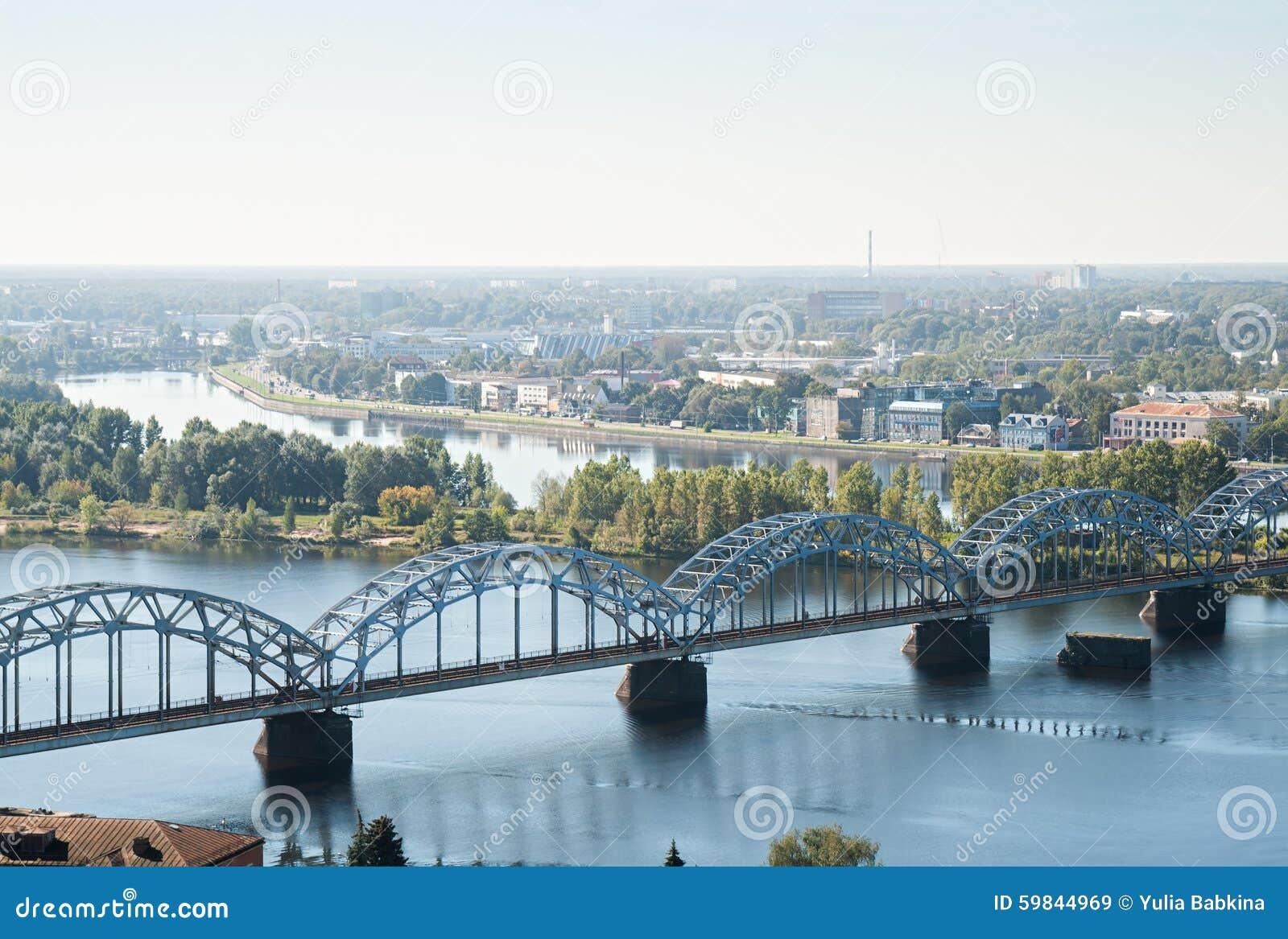 Pont de chemin de fer, Riga, Lettonie