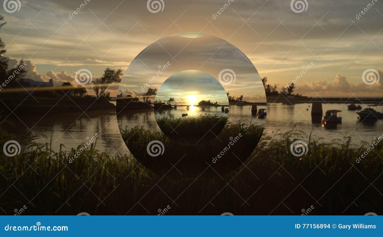 Pont de coucher du soleil