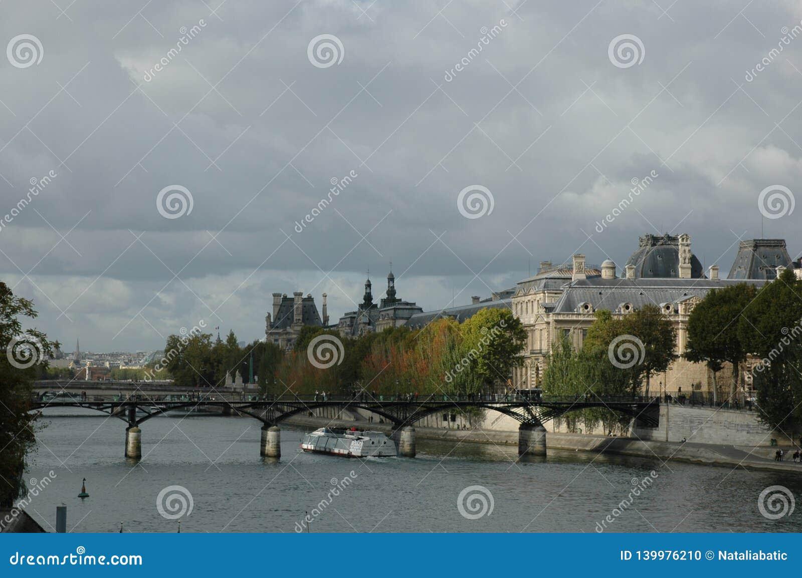Pont de la Seine, Pont des Arts - Paris, France