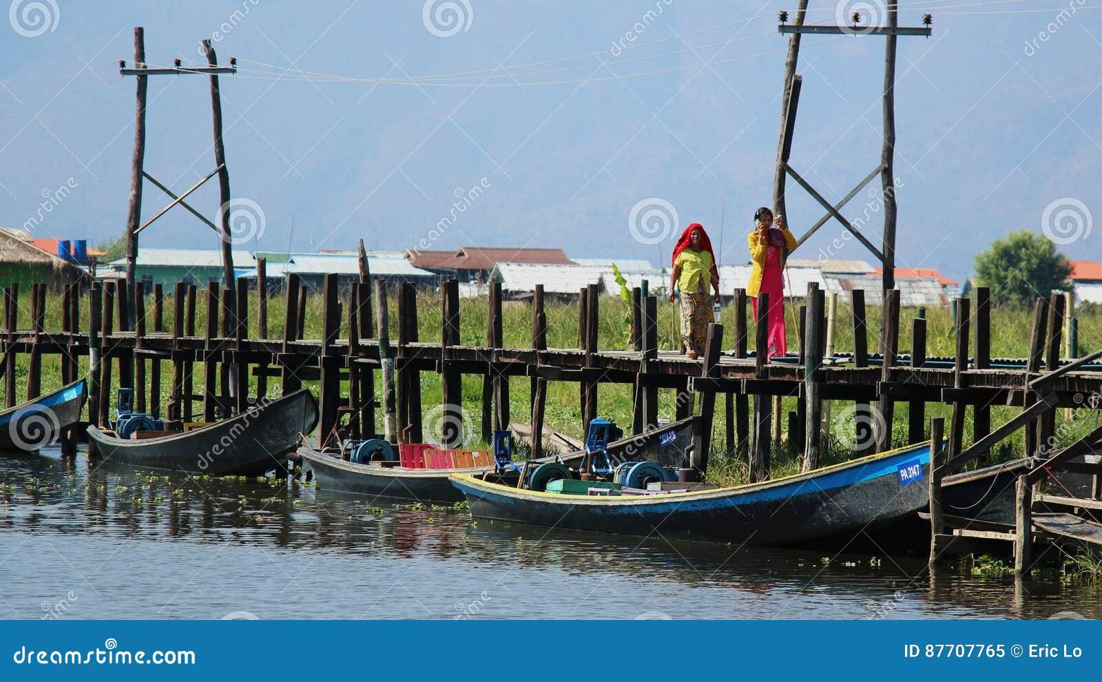 Pont de Maing Thauk, lac Inle