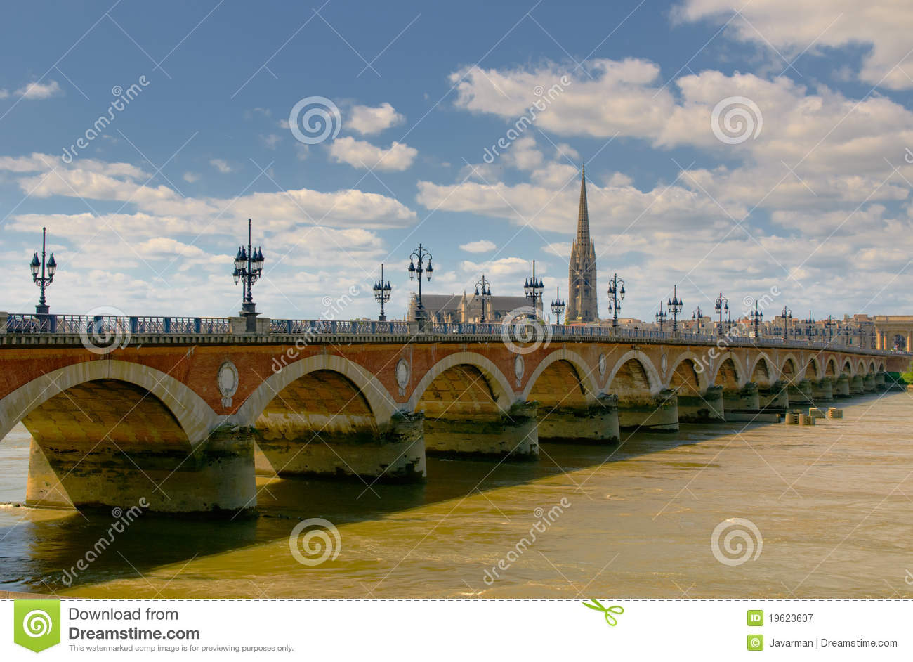 pont de pierre bordeaux france photographie stock libre de droits image 19623607. Black Bedroom Furniture Sets. Home Design Ideas