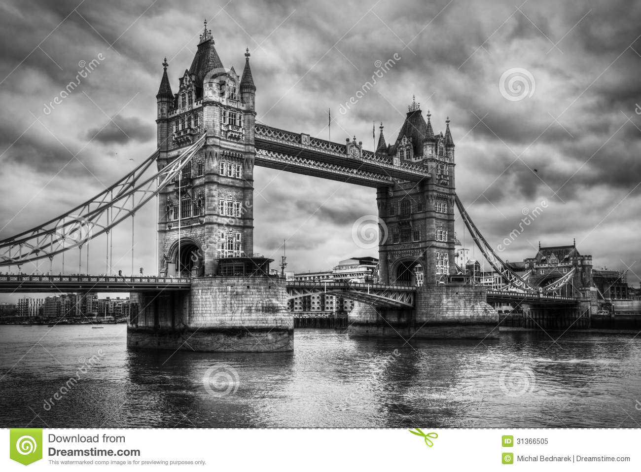 pont de tour londres r u noir et blanc photo libre de droits image 31366505. Black Bedroom Furniture Sets. Home Design Ideas