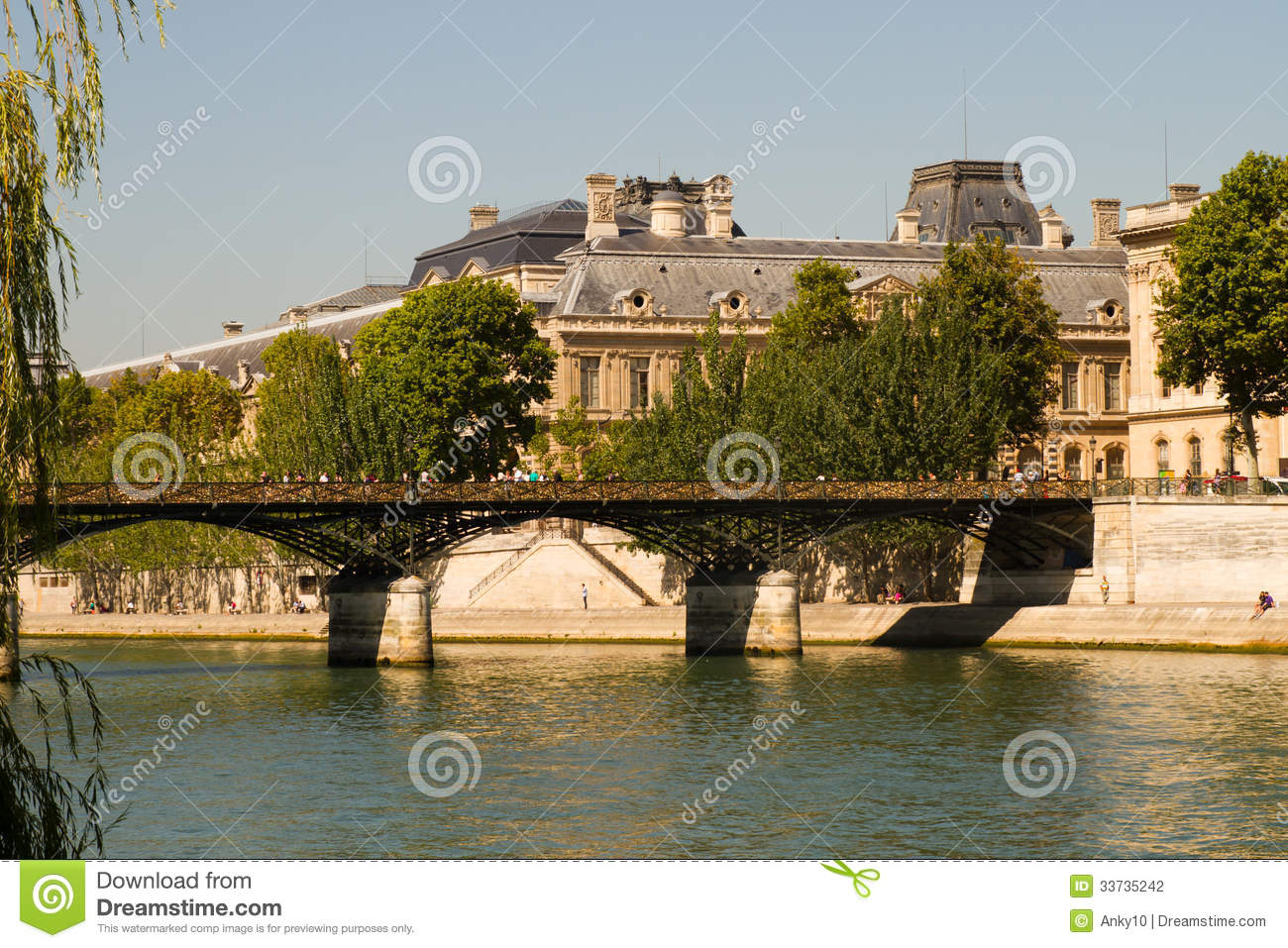 Pont des arts pod locks stock photography image 33735242 - Le pont de lamour a paris ...