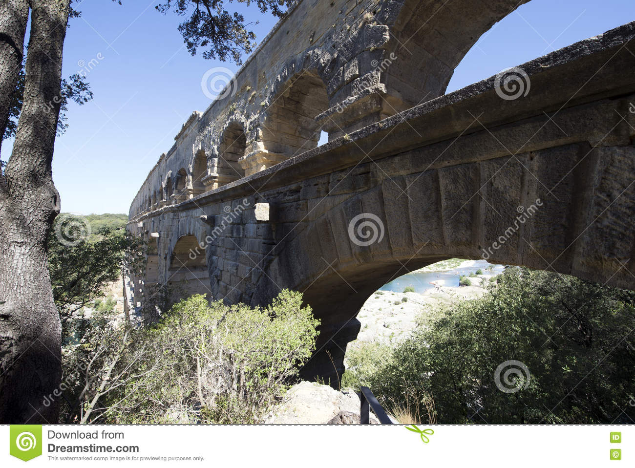 Pont du gard architecture detail france stock photo for Pont du gard architecte