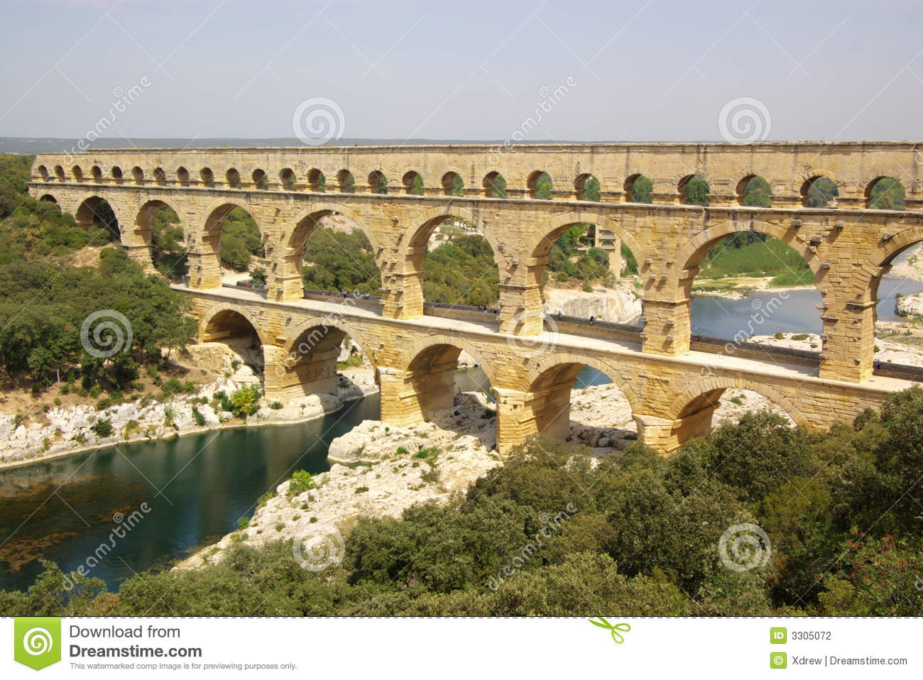 Pont Du Gard Top View Stock Photography - Image: 3305072 Pont Du Gard Top