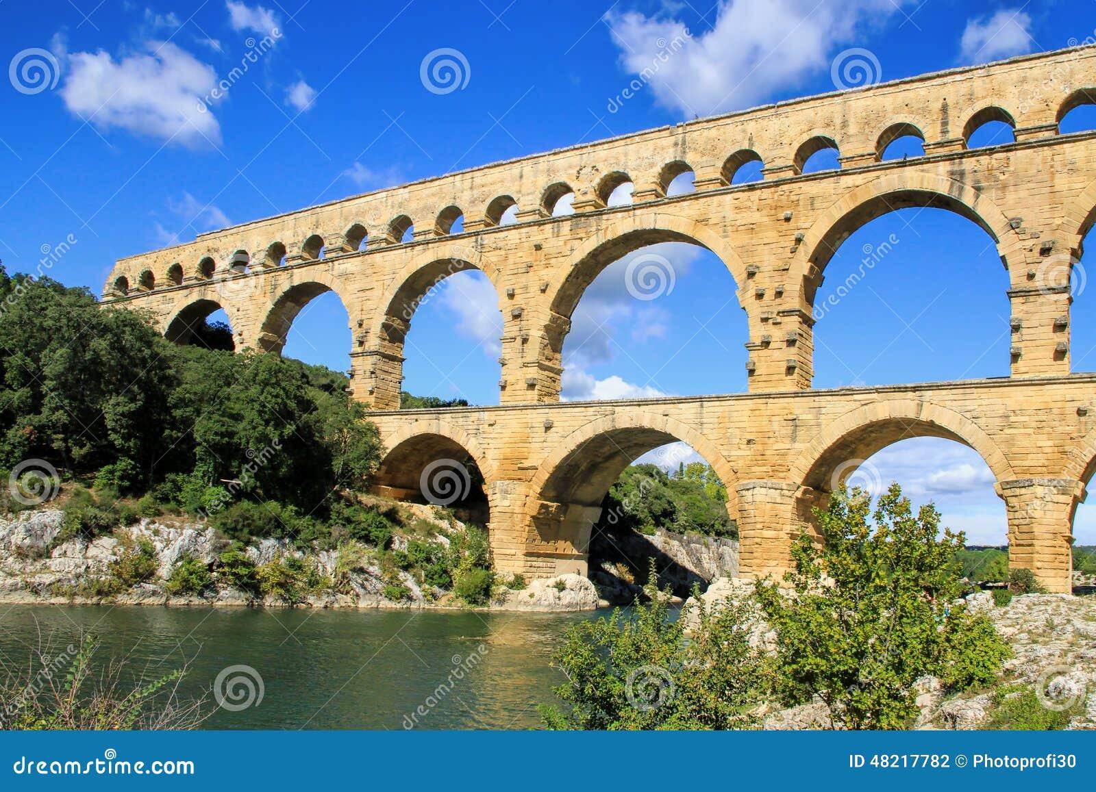 Pont du il Gard, a sud della Francia