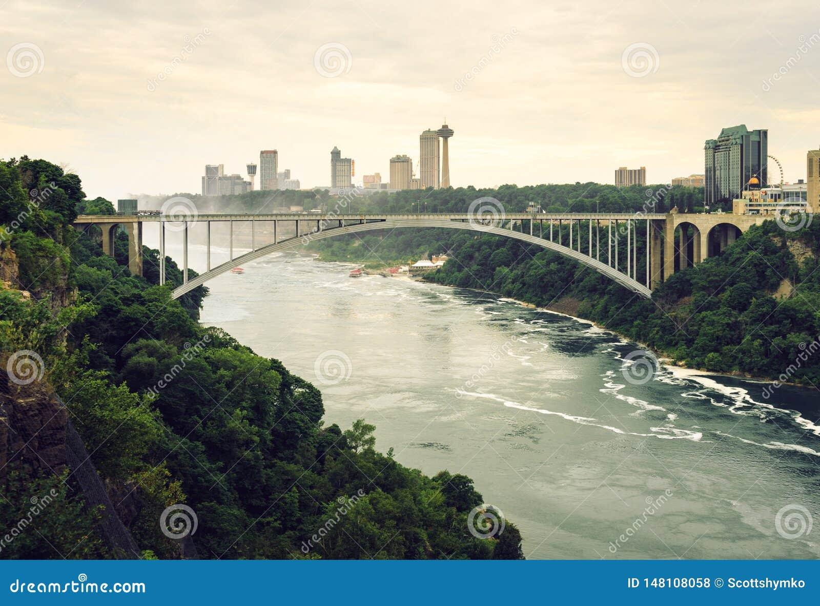 Pont en arc-en-ciel, gorge de chutes du Niagara