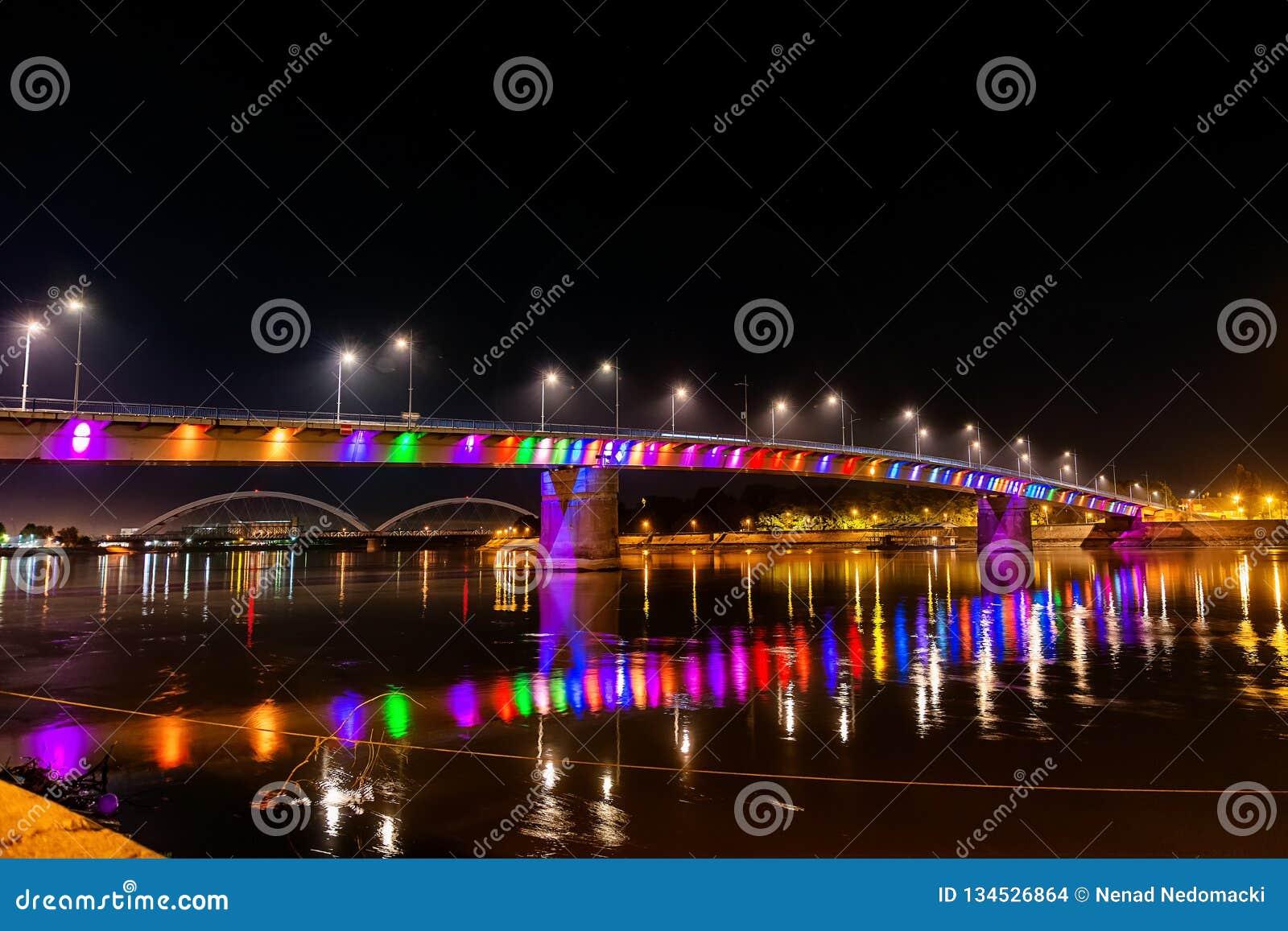 Pont en arc-en-ciel, Novi Sad, Serbie