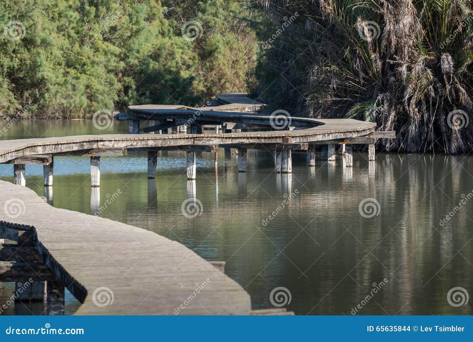 Pont en bois chez Ein Afec