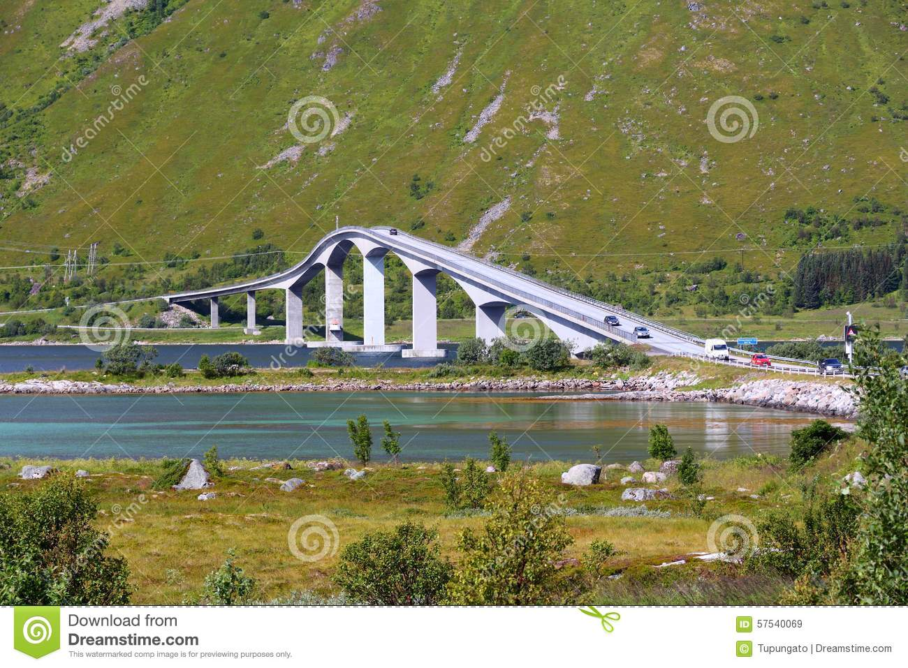 Pont en porte faux en norv ge photo stock image 57540069 for Porte 0 faux