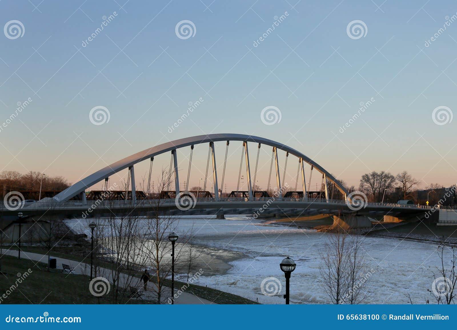 Pont en rue de Towm à Columbus, Ohio