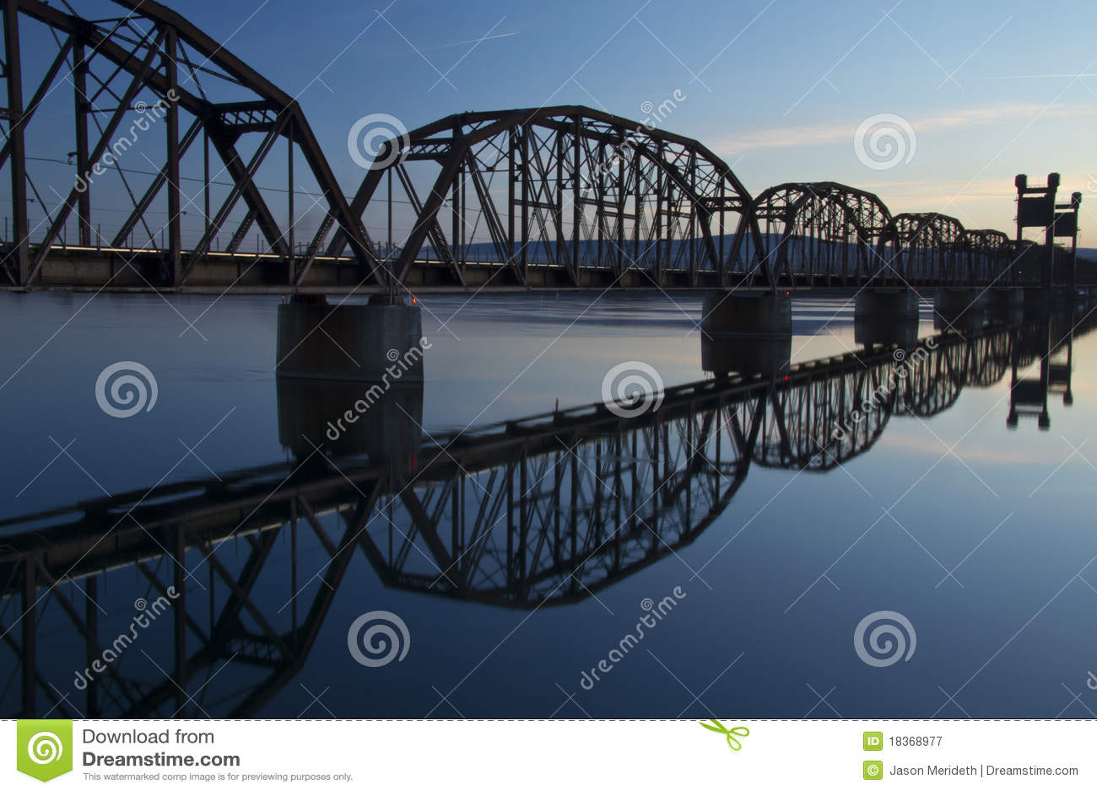 Pont en train
