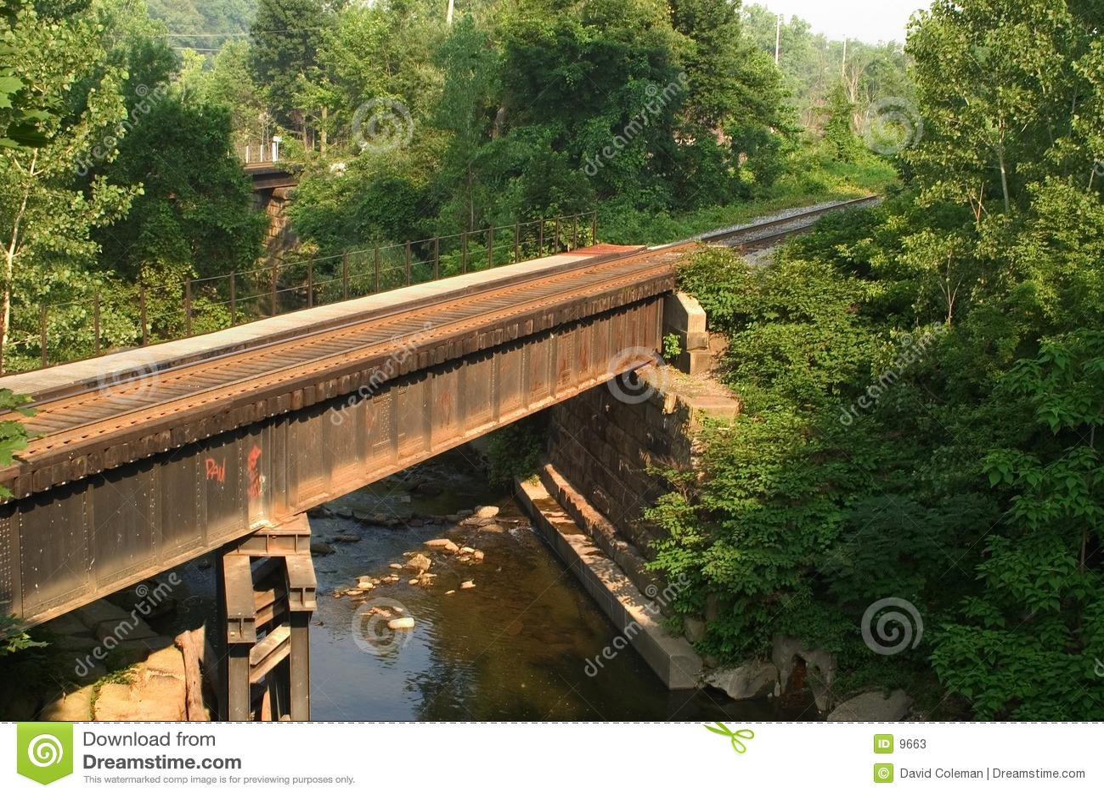 Pont en train horizontal